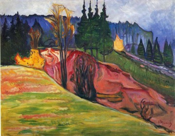 from thuringewald 1905 Edvard Munch Oil Paintings