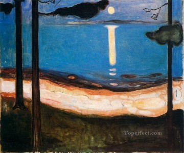 1895 Oil Painting - moon light 1895 Edvard Munch