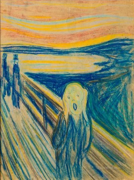 Edvard Munch Painting - The Scream by Edvard Munch 1893
