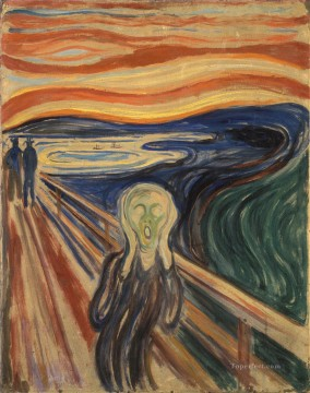 Scream Art - The Scream by Edvard Munch 1910 tempera