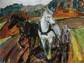 horse team 1919 Edvard Munch