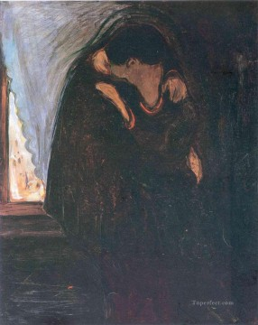 Edvard Munch Painting - kiss 1897 Edvard Munch