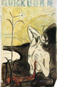the flower of pain 1897 Edvard Munch Oil Paintings
