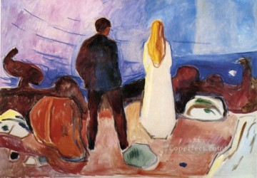 Edvard Munch Painting - the lonely ones 1935 Edvard Munch