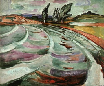 the wave 1921 Edvard Munch Oil Paintings