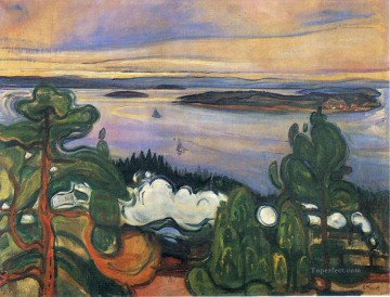 Edvard Munch Painting - train smoke 1900 Edvard Munch
