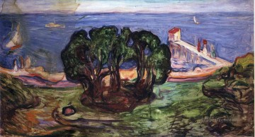 Edvard Munch Painting - trees on the shore 1904 Edvard Munch
