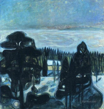 Edvard Munch Painting - white night 1901 Edvard Munch