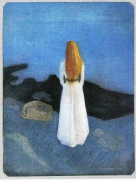 young woman on the shore 1896 Edvard Munch Oil Paintings