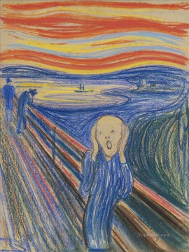 pastel painting.html - The Scream by Edvard Munch 1895 pastel