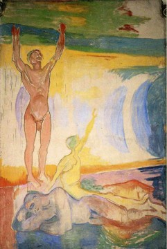 Edvard Munch Painting - awakening men 1916 Edvard Munch