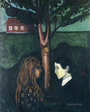 Edvard Munch Painting - eye in eye 1894 Edvard Munch