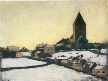 Edvard Munch Painting - old aker church 1881 Edvard Munch