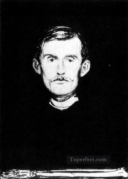 Edvard Munch Painting - self portrait i 1896 Edvard Munch