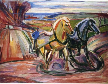 Edvard Munch Painting - spring plowing 1916 Edvard Munch