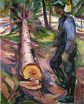 Edvard Munch Painting - the lumberjack 1913 Edvard Munch
