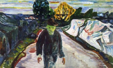 Edvard Munch Painting - the murderer 1910 Edvard Munch