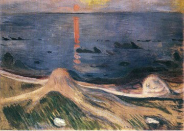 Edvard Munch Painting - the mystery of a summer night 1892 Edvard Munch