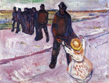 worker and child 1908 Edvard Munch Oil Paintings