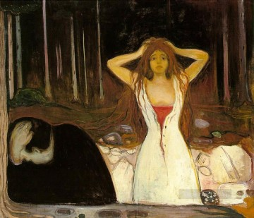 Edvard Munch Painting - ashes 1894 Edvard Munch