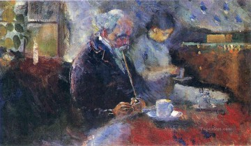 1883 Works - at the coffee table 1883 Edvard Munch