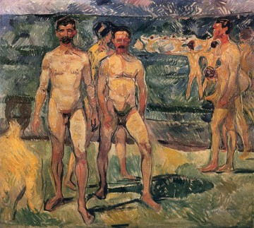 Edvard Munch Painting - bathing men 1907 Edvard Munch