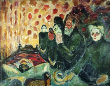 Edvard Munch Painting - by the deathbed fever i 1915 Edvard Munch
