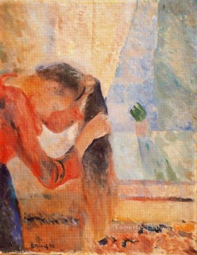 Edvard Munch Painting - girl combing her hair 1892 Edvard Munch
