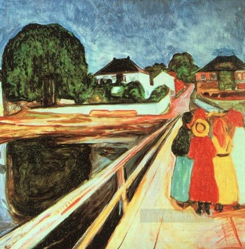 girls on a bridge 1900 Edvard Munch Oil Paintings