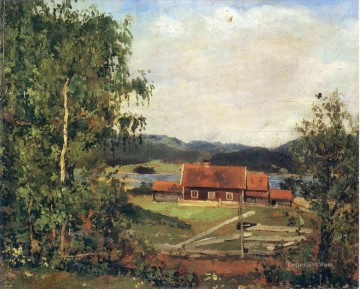 landscape maridalen by oslo 1881 Edvard Munch Oil Paintings