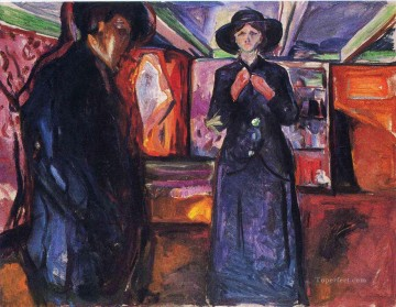 man and woman ii 1915 Edvard Munch Oil Paintings