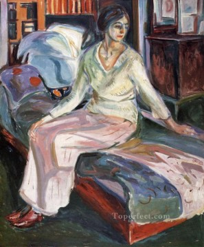 Edvard Munch Painting - model on the couch 1928 Edvard Munch