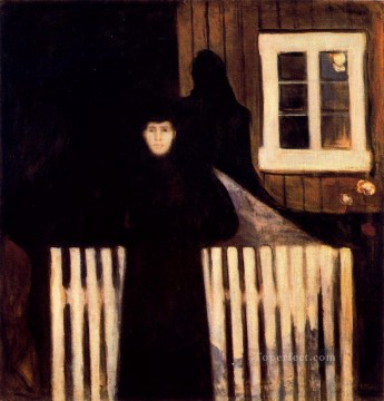 Edvard Munch Painting - moonlight 1893 Edvard Munch