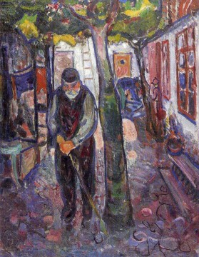Edvard Munch Painting - old man in warnemunde 1907 Edvard Munch
