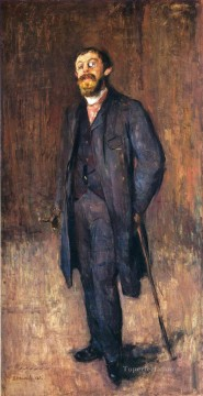 portrait of the painter jensen hjell 1885 Edvard Munch Oil Paintings