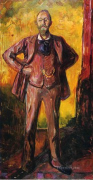 Edvard Munch Painting - professor daniel jacobson 1909 Edvard Munch