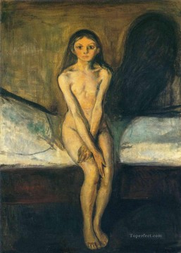 Edvard Munch Painting - puberty 1894 Edvard Munch