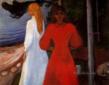 1900 Works - red and white 1900 Edvard Munch