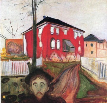 1900 Works - red virginia creeper 1900 Edvard Munch