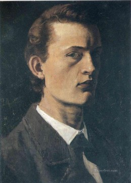 Edvard Munch Painting - self portrait 1882 Edvard Munch