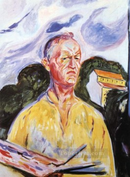 self portrait at ekely 1926 Edvard Munch Oil Paintings