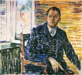 self portrait at professor jacobson s hospital 1909 Edvard Munch