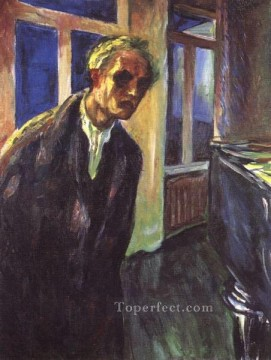 Edvard Munch Painting - self portrait the night wanderer 1924 Edvard Munch