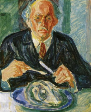 self portrait with cod s head 1940 Edvard Munch Oil Paintings