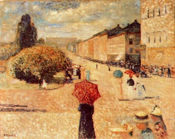 spring day on karl johan street 1890 Edvard Munch Oil Paintings