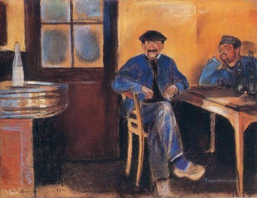 Edvard Munch Painting - tavern in st cloud 1890 Edvard Munch