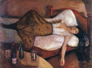 1895 Oil Painting - the day after 1895 Edvard Munch