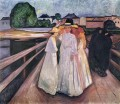 the ladies on the bridge 1903 Edvard Munch