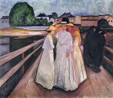 Edvard Munch Painting - the ladies on the bridge 1903 Edvard Munch