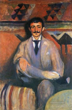 Edvard Munch Painting - the painter jacob bratland 1892 Edvard Munch